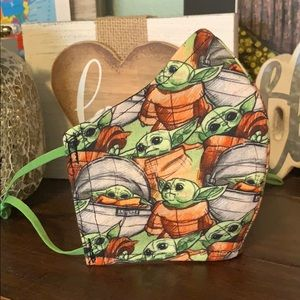 """Accessories - Bundle of 2 Baby Yoda """"The Child"""" Print Face Mask"""